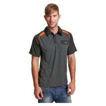 EMERTON teniszpóló fekete/narancs - 2XL
