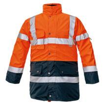 Cerva BI ROAD kabát fluo narancs/sötétkék - S