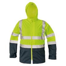 Cerva EPPING kabát fluo sárga/navy - L