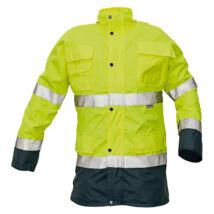 Cerva MALABAR meleg kabát fluo sárga - S