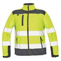 Cerva RYTON Softshell kabát fluo sárga - XS
