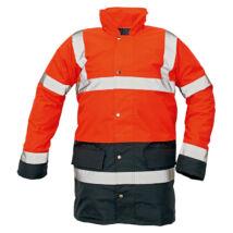 Cerva SEFTON kabát fluo piros/navy - S