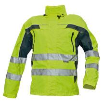 Cerva TICINO kabát fluo sárga/fekete - S