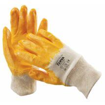 Cerva HARRIER mártott nitril kesztyű sárga - 7