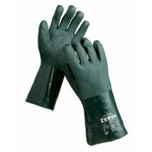 Cerva PETREL kesztyű zöld PVC - 10