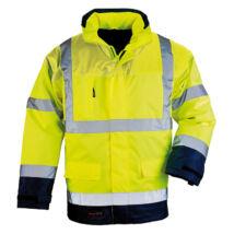 Airport fluo kabát 4/1 sárga/kék - L