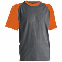 Paddock póló szürke/narancs - L