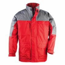 Ripstop kabát piros/szürke - L
