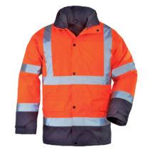 Roadway fluo kabát 4/1 narancs/kék - L