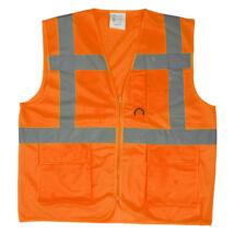 Yard többzsebes fluo mellény narancs - XL