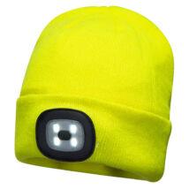 PORTWEST B028 dupla LED lámpás sapka sárga
