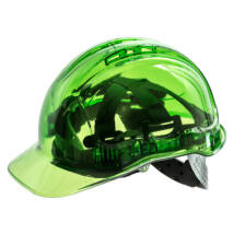 PV60 Peak View Plus átlátszó védősisak szellőző zöld