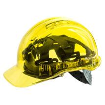 PV60 Peak View Plus átlátszó védősisak szellőző sárga