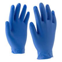 Rock kék vinyl kesztyű púdermentes - L