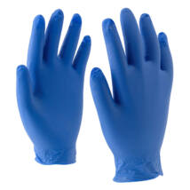 Rock kék vinyl kesztyű púdermentes - M