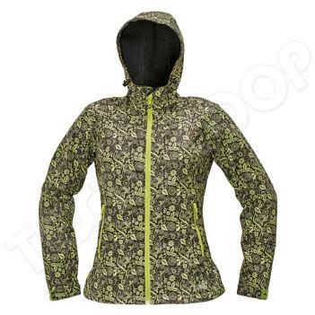 CRV YOWIE PRINTED kabát barna/zöld - XS
