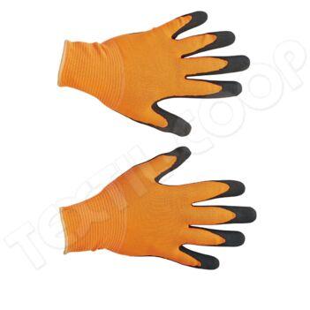 Free Hand BUBO kesztyű nylon latex narancssárga - 8