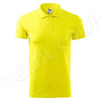 Malfini Single J. galléros póló férfi 202 citrom - S