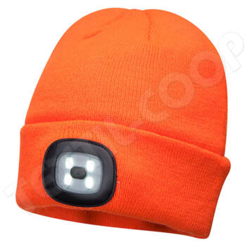 PORTWEST B029 sapka LED lámpával - narancs