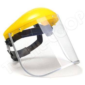 Fémkeretes arcvédő plexi homlokpánttal