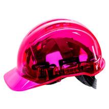 Portwest PV60 Peak View Plus átlátszó védősisak szellőző pink