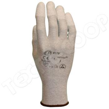 6176 ESD szerelőkesztyű ujjbegyen pu mártott - 6