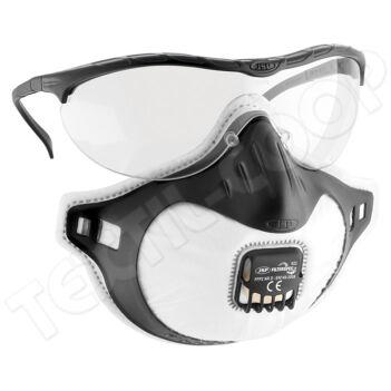 JSP Filterspec porálarc+szemüveg FFP2 NR V