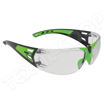 JSP Forceflex FF-3 szemüveg víztiszta zöld keret