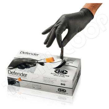 Sir Safety egyszerhasználatos fekete nitril kesztyű SSY-11248